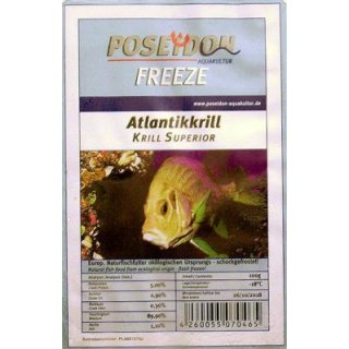 Poseidon Freeze Atlantikkrill (Krill grob) 100g Blister 10x100g